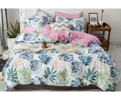 LUXTON PALM LEAF QUILT COVER - AVAILABLE IN KING & QUEEN