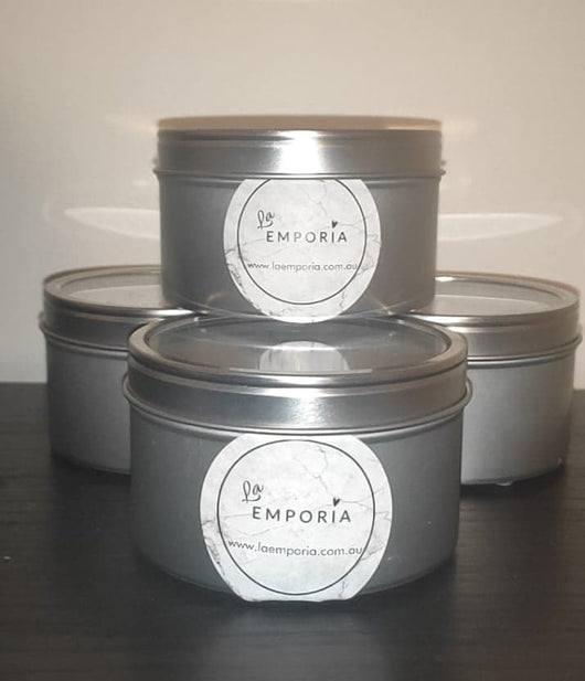 WINDOW TRAVEL TIN SOY CANDLE - SWEET ORANGE