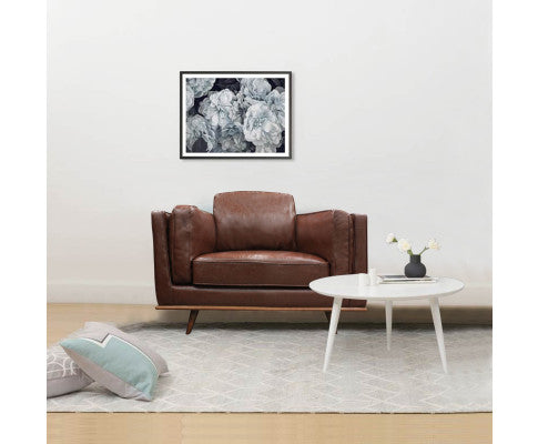 YORK 1 SEATER LEATHERETTE SOFA - BROWN
