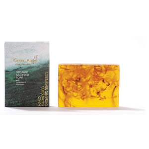 Green Angel Organic Seaweed soap with Lavender and Mandarin
