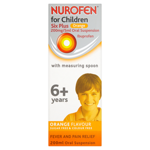 NUROFEN FOR CHILDREN 6 PLUS ORANGE 200MG/5ML ORAL SUSPENSION