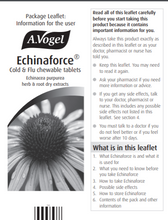 Load image into Gallery viewer, A. Vogel Echinaforce Chewable Cold & Flu Tablets (40)