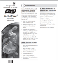 Load image into Gallery viewer, A. Vogel Menoforce Sage Tablets