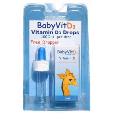 BabyVit D3 Vitamin D Drops (10ml)