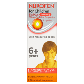 NUROFEN FOR CHILDREN 6 PLUS STRAWBERRY 200MG/5ML ORAL SUSPENSION