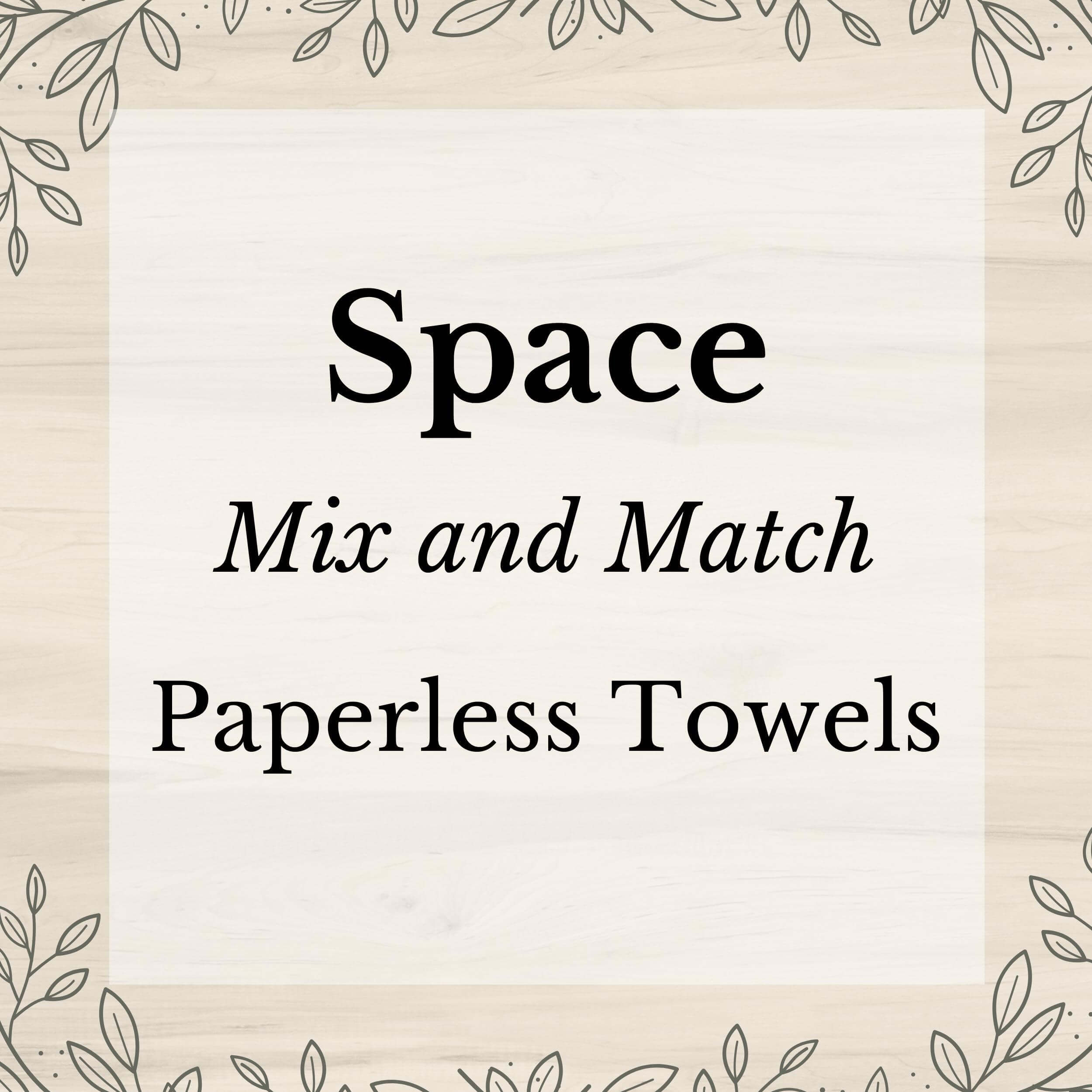 Space Mix and Match Washable Paper(less) Towels - Stella & Sol Sustainables