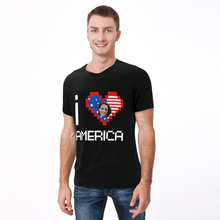 Personalized Photo I love America T-shirt
