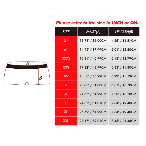 Santa Claus Kids Custom Face Boxer Briefs