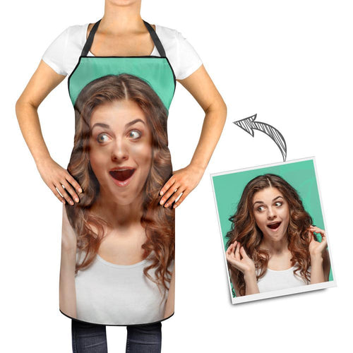 Custom Photo Cooking Apron - Funny Kitchen Personalized Chef Gifts