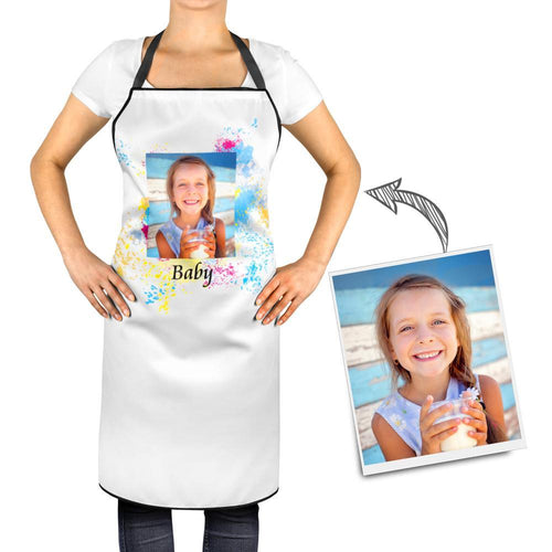 Personalized Kitchen Cooking Apron with Your Photo and Name