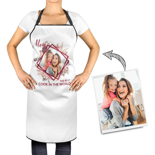Personalized Kitchen Cooking Apron with Your Photo and