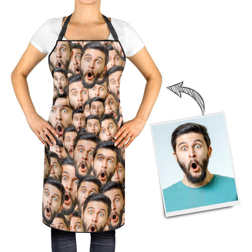 Personalized Kitchen Cooking Apron with Your Photo Mash Faces