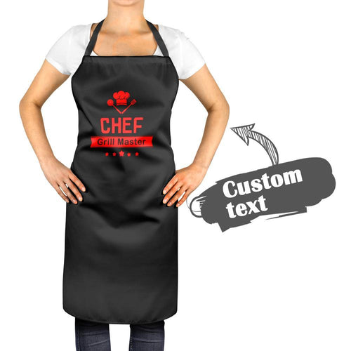 Personalized Kitchen Cooking Apron with Your Name, Chef and Five Stars