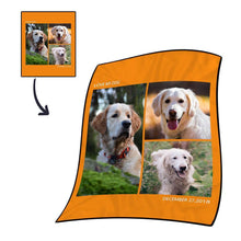 Custom Photo Blanket Fleece with Text - 3 Photos