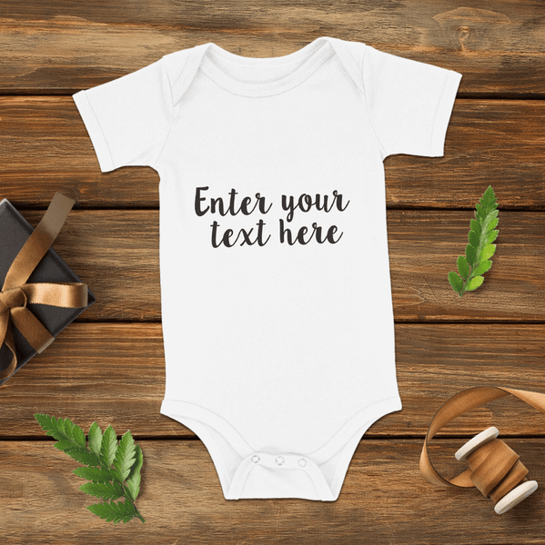 Custom Text Baby Name Bodysuits Onesie