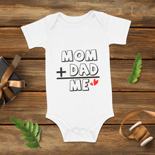 Baby Bodysuits Onesie Mom+Dad=ME
