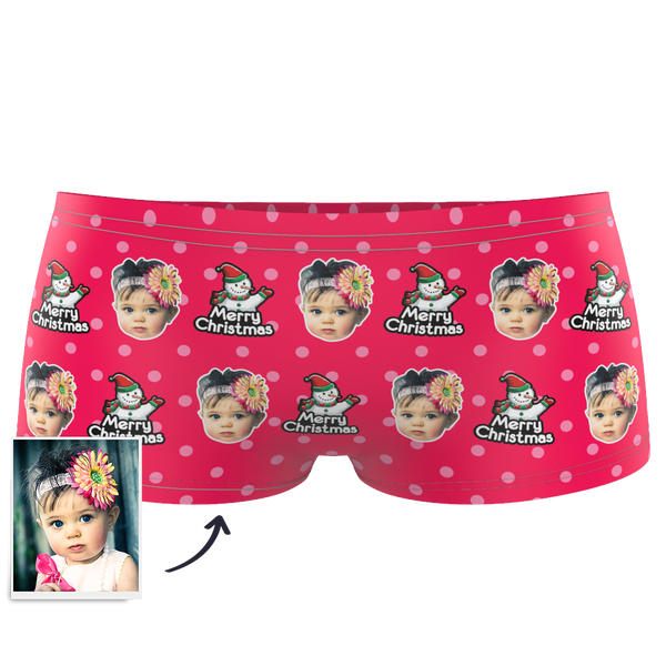 Snowman Kids Custom Face Boxer Briefs