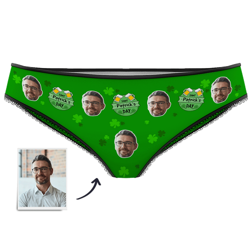 Women's Custom Photo Panties - Lucky St.Patrick's Day
