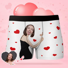 Men's Custom  Face Boxers Hug My Dear with Heart