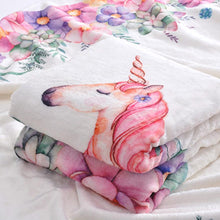 Milestone Blanket - Record Baby Growth Beautiful Unicorn Fleece Blanket