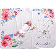 Milestone Blanket - Record Baby Growth Fleece Blanket