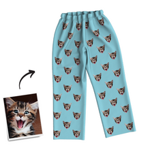 Custom Photo Long Sleeve Pajamas, Sleepwear, Nightwear