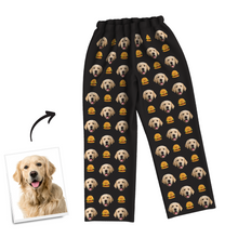 Custom Dog Photo Long Sleeve Pajamas, Nightwear