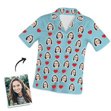 Custom Photo Short Sleeve Pajama Top, Nightwear, Sleepwear Pants and Top