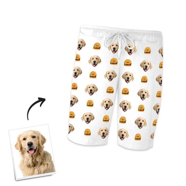 Custom Dog Photo Short Sleeve Pajamas, Nightwear