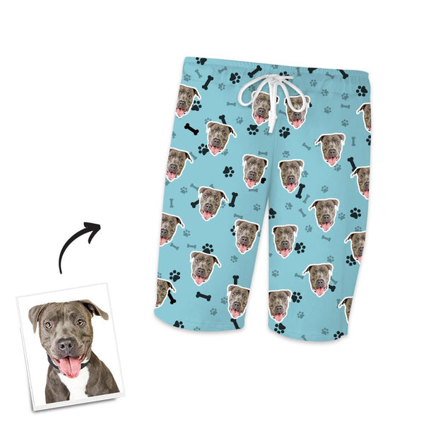 Custom Dog Photo Short Sleeve Pajamas, Nightwear, Sleepwear - Bone