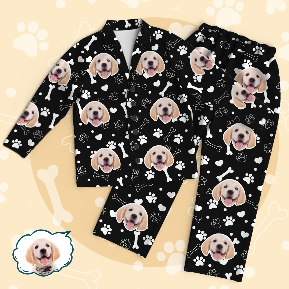 Personalized Pet Photo Pajama Set - Dog Cute Face