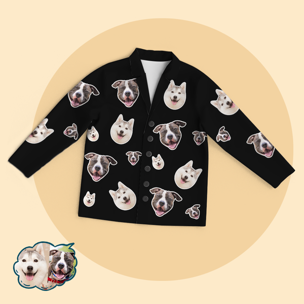 Custom Photo Pajamas Personalised Pet Face Funny Pajama Tops/Pants