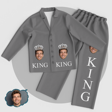 Personalized Men's King Pajamas Set Add Your Photo