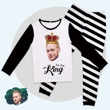 Custom Face Pajama Tops King And Queen Matching Pajamas-I'm The King