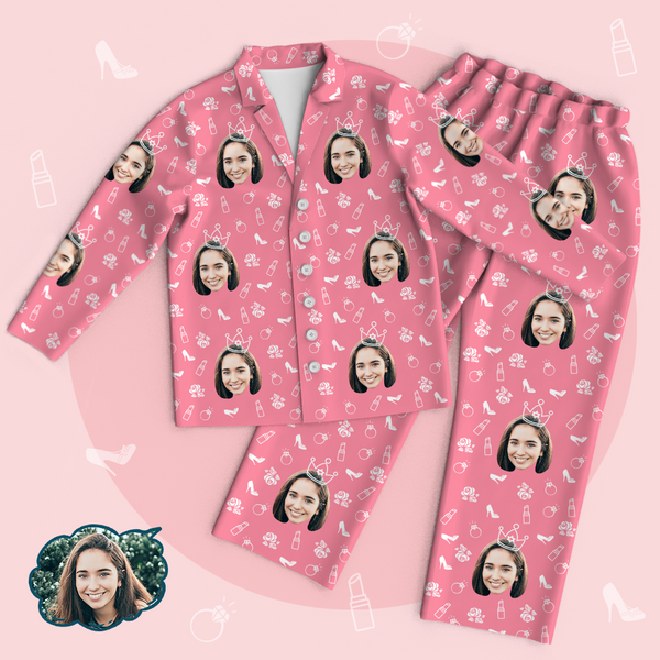 Custom Face Pajamas Set Love My Mom Personalized Mothers Day Gifts