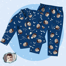 Custom Photo Family Pajamas Set Starry Sky Pajama