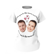 Custom Face Love Woman T-shirt - Myfaceshirt