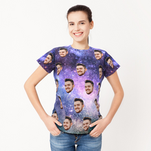 Personalized Photo In Galaxy Style T-Shirt