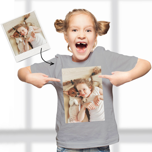 Custom Photo Kid T-Shirt 2-6 years old Cotton T-Shirt Your Logo