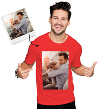 Custom Photo Men's Cotton T-shirt Short Sleeve Love My Family