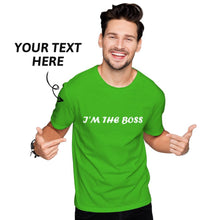 Custom Text Men's Cotton T-shirt Short Sleeve Red