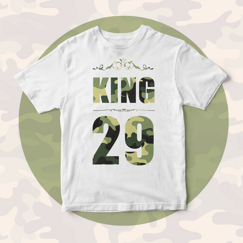 Custom Lucky Number Personalized Family Matching Shirt Men's Cotton The King T-shirt