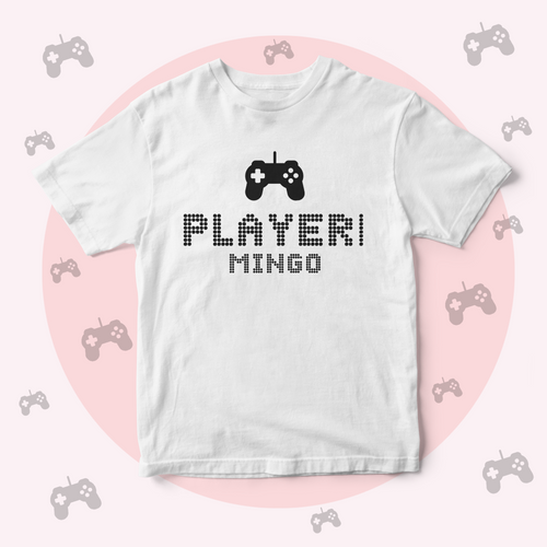 Custom Name Matching Family Gaming Shirts Personalised Men's Cotton T-shirt Happy Fathers Day