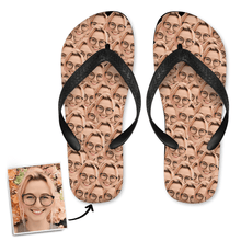 Custom Face Mash Photo Flip Flops, Sandal with His Face