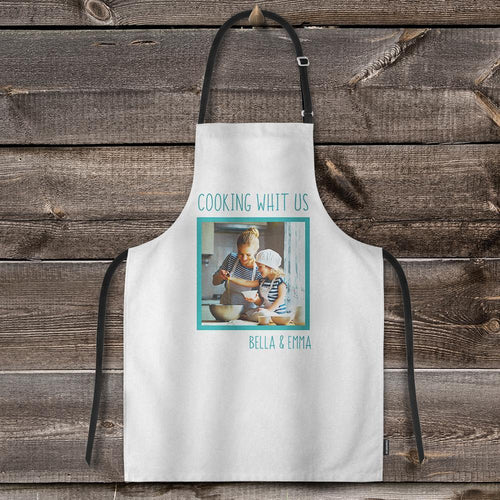 Custom Photo Kitchen Apron Adjustable Bib Apron For Cooking - Restaurant BBQ Painting Crafting Apron