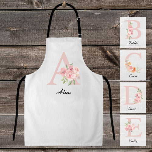 Custom Cooking Apron Choose Your Name - Personalised Letter Name Apron
