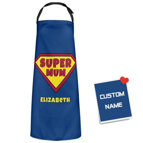 Custom Text Super Mum Apron - Best Gifts For Mom