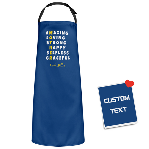 Custom Kitchen Personalized Text Apron With Your Name
