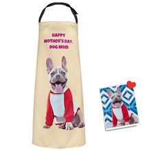 Custom Face Kitchen Apron Happy Mother's Day - Dog Mom