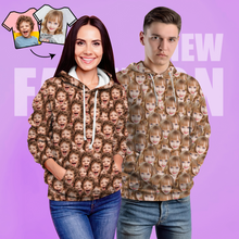 Custom Face Unisex Hoodie Casual Printed Photo Hoodie For Men Women - Mash Face